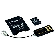 Kingston Micro SDHC 8GB Class 4 + SD adaptér a USB čítačka
