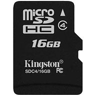 Kingston MicroSDHC 16GB Class 4 - Paměťová karta