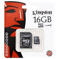 Kingston Micro SDHC 16GB Class 4 + SD adaptér - Paměťová karta