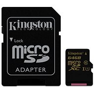 Kingston Micro SDXC Klasse 10 64 GB UHS-I + SD-Adapter - Speicherkarte