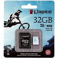 Kingston Micro SDHC 32GB Class 10 UHS-I U3 Action Camera + SD adaptér