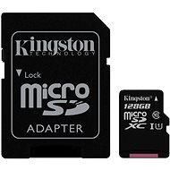 Kingston Micro SDXC 128GB Class 10 UHS-I+ SD adaptér