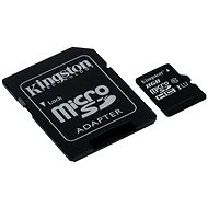 Kingston Micro SDHC 8GB Class 10 UHS-I + SD adaptér - Paměťová karta