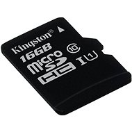 Kingston MicroSDHC 16GB Class 10 UHS-I - Paměťová karta