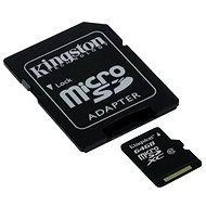 Kingston Micro SDXC 64GB Class 10 UHS-I + SD adaptér - Paměťová karta