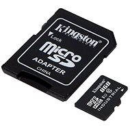 Kingston Micro SDHC 8GB Class 10 UHS-I Industrial Temp + SD adaptér - Paměťová karta