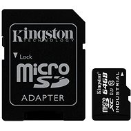 Kingston MicroSDXC 64GB Class 10 UHS-I Industrial Temp + SD adaptér - Paměťová karta