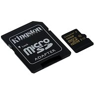 Kingston Micro SDHC UHS-I 16 Gigabyte U3 + SD-Adapter - Speicherkarte