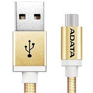 ADATA microUSB 1m zlatý - Datový kabel