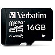 Verbatim Micro SDHC 16GB Class 10 - Paměťová karta