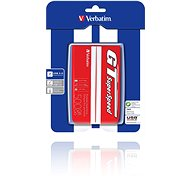 "Verbatim 2.5"" GT SuperSpeed USB HDD 500 GB Red / White - External Disk"