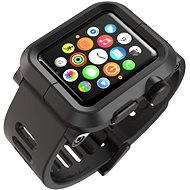 Lunatik Epik pre Apple Watch 42mm (čierny polykarbonát / čierny silikón)