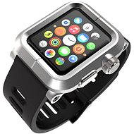 Lunatik Epik pre Apple Watch 42mm (strieborné aluminium / čierny silikón)