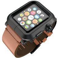 Lunatik EPIK pro Apple Watch 1 Series 42mm (černé aluminium / hnědá kůže)