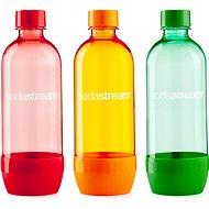 SodaStream Tripack 1l ORANGE / RED / GREEN - Náhradná fľaša