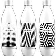 SodaStream 1 liter bottle Tripack Fuse Black & White