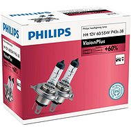 PHILIPS H4 VisionPlus, 60/55W, patice P43t-38, 2 kusy