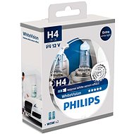 PHILIPS WhiteVision H4 60 / 55W, socket P43t-38, 2 pieces + 2 free w5w - homologated!