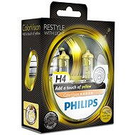 PHILIPS H4 ColorVision Yellow, socket P43t-38, 2 pieces - homologated!