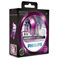 PHILIPS H4 ColorVision Purple, patice P43t-38, 2 kusy - homologováno!