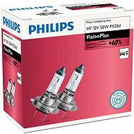 PHILIPS H7 VisionPlus, 55W, socket PX26d, 2 pieces