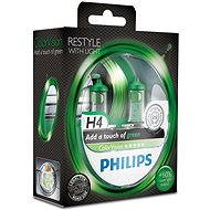 PHILIPS H4 ColorVision Green, socket P43t-38, 2 pieces - homologated!