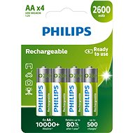 Philips R6B4B260 4-pack - Batteries
