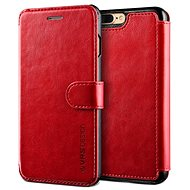 Dandy Verus Layered Leather Case burgundy-black
