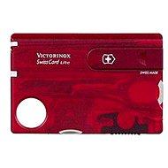 Pocket knife Victorinox Swiss Card Lite Translucent red
