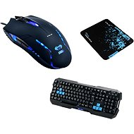 E-Blue Polygon Keyboard and Cobra II Mouse - Mouse/Keyboard Set