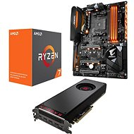 AMD RADEON VEGA BLACK PACK + AMD Ryzen 7 1700X + Gigabyte X370 - Set