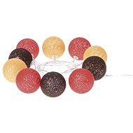 EMOS LED girlanda - koule bavlněné, podzim, 2xAA, teplá bílá, čas