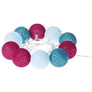 EMOS LED girlanda - koule bavlněné, jaro, 2xAA, teplá bílá, čas. - Vánoční osvětlení