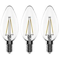 TESLA CRYSTAL RETRO LED candle E14 2,2W 3pc