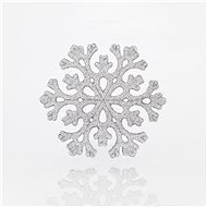 Sněhová vločka stříbrná set 5 kusů