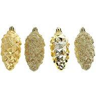 Baňka šiška zlatá set 4 kusů