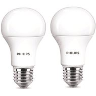 Philips LED 9-60W E27, 2700K, Milk, set 2pc