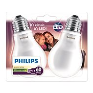 Philips LED Classic 7-60W, E27, 2700K, Mléčná, set 2ks - LED žárovka