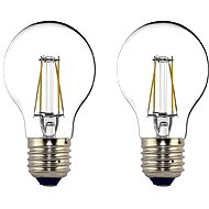 Philips LED Classic Filament Retro 4-40W, E27, 2700K, čirá, set 2ks - LED žárovka