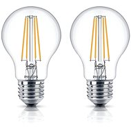 Philips LED Classic Filament Retro 6-60W, E27, 2700K, čirá, set 2ks
