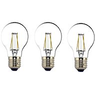 Philips LEDClassic Glühfaden Retro 6-60W, E27, 2700K, klar, Set 3pc - LED-Lampen