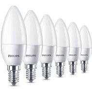 Philips LED Sviečka 5.5-40W, E14, 2700K, matná, set 6ks