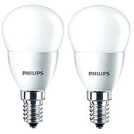 Philips LED kvapka 5,5-40W, E14, 2700K, matná, set 2 ks