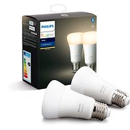 Philips Hue White 9.5W E27 set 2ks - LED-Lampen