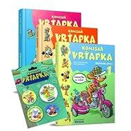 Balíček 4ks Komisař Vrťapka 3knihy +Plaketa s odznáčkami: Komisař Vrťapka 1.díl + 2.díl + 3.díl + Pl - Kniha