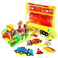 Sada penových hračiek do vane - Stavebné stroje