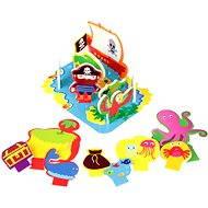 Sada pěnových hraček do vany - Ostrov pokladů