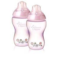 Dojčenská fľaša s obrázkami C2N 340 ml 2 ks ružová