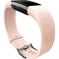 Fitbit Charge 2 Leather Band Blush Pink Large