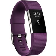 Fitbit Charge 2 Small Plum Silver - Fitness náramek